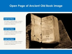 Open Page Of Ancient Old Book Image Ppt PowerPoint Presentation File Elements PDF