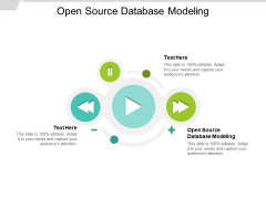 Open Source Database Modeling Ppt PowerPoint Presentation Pictures Template Cpb