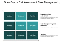 Open Source Risk Assessment Case Management System Integration Ppt PowerPoint Presentation Gallery Graphics Pictures
