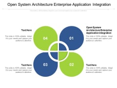 Open System Architecture Enterprise Application Integration Ppt PowerPoint Presentation Design Templates Cpb Pdf