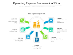 Operating Expense Framework Of Firm Ppt PowerPoint Presentation Infographics Summary PDF