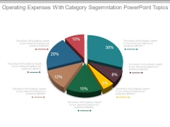 Operating Expenses With Category Segmentation Powerpoint Topics