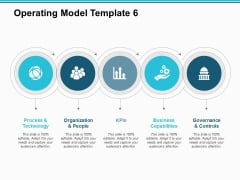 Operating Model Process And Technology Ppt PowerPoint Presentation Summary Template