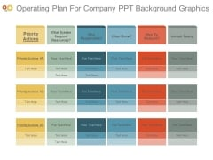 Operating Plan For Company Ppt Background Graphics
