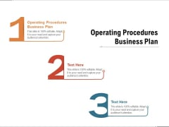 Operating Procedures Business Plan Ppt PowerPoint Presentation Inspiration Templates Cpb Pdf