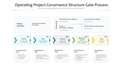 Operating Project Governance Structure Gate Process Ppt PowerPoint Presentation File Elements PDF