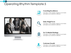 Operating Rhythm Template Coaching Excellence Ppt PowerPoint Presentation File Slide