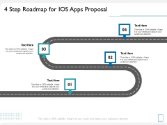 operating system application 4 step roadmap for ios apps proposal ppt infographics visuals pdf