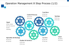 Operation Management 8 Step Process Ppt PowerPoint Presentation Gallery Grid
