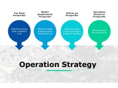 Operation Strategy Ppt PowerPoint Presentation Infographics Pictures