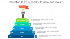 Operation Team Success With Grow And Invest Ppt Infographic Template Example Topics PDF