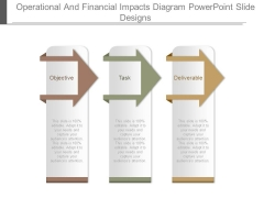 Operational And Financial Impacts Diagram Powerpoint Slide Designs