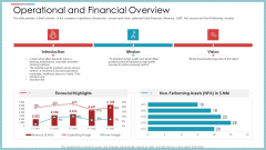 Operational And Financial Overview Ppt Infographic Template Graphics PDF