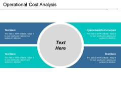 Operational Cost Analysis Ppt Powerpoint Presentation Visual Aids Infographics Cpb