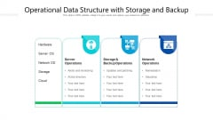 Operational Data Structure With Storage And Backup Ppt PowerPoint Presentation Gallery Master Slide PDF