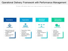 Operational Delivery Framework With Performance Management Ppt PowerPoint Presentation Gallery Elements PDF