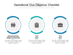 Operational Due Diligence Checklist Ppt PowerPoint Presentation Inspiration Layouts Cpb