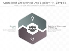Operational Effectiveness And Strategy Ppt Samples