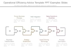 Operational Efficiency Advice Template Ppt Examples Slides