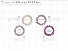 Operational Efficiency Ppt Slides