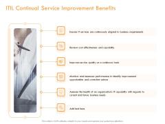 Operational Evaluation Rigorous Service Enhancement ITIL Continual Service Improvement Benefits Elements PDF