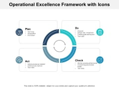 Operational Excellence Framework With Icons Ppt PowerPoint Presentation Styles Graphics