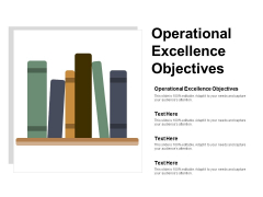 Operational Excellence Objectives Ppt PowerPoint Presentation Infographics Portfolio Cpb