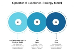Operational Excellence Strategy Model Ppt PowerPoint Presentation Summary Ideas Cpb