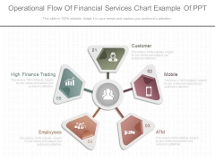 Operational Flow Of Financial Services Chart Example Of Ppt