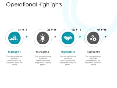 Operational Highlights Ppt PowerPoint Presentation Inspiration Designs