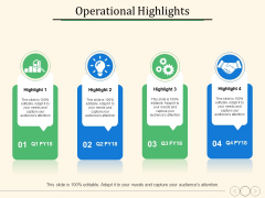 Operational Highlights Ppt PowerPoint Presentation Outline Example