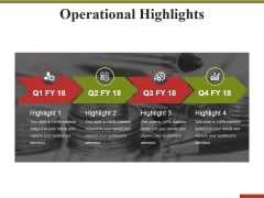 Operational Highlights Ppt PowerPoint Presentation Show