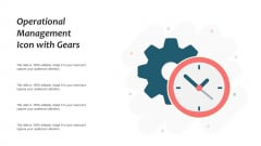 Operational Management Icon With Gears Ppt PowerPoint Presentation Model Portfolio PDF