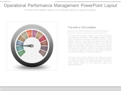 Operational Performance Management Powerpoint Layout