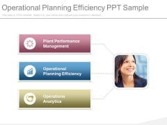 Operational Planning Efficiency Ppt Sample