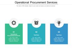 Operational Procurement Services Ppt PowerPoint Presentation Summary Graphics Tutorials Cpb Pdf