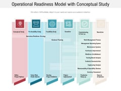 Operational Readiness Model With Conceptual Study Ppt PowerPoint Presentation Infographics Skills PDF