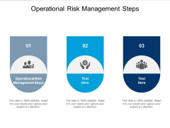 Operational Risk Management Steps Ppt PowerPoint Presentation Ideas Example Topics Cpb