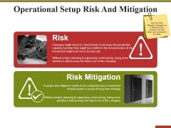 Operational Setup Risk And Mitigation Ppt PowerPoint Presentation Layouts Background Image