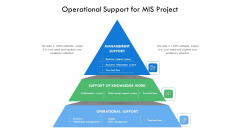 Operational Support For MIS Project Ppt Infographics Background Designs PDF