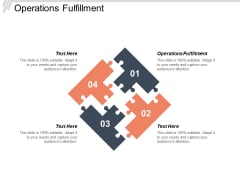 Operations Fulfillment Ppt Powerpoint Presentation Icon Layouts Cpb