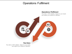 Operations Fulfilment Ppt PowerPoint Presentation Gallery Inspiration Cpb