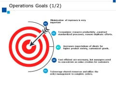 Operations Goals Ppt PowerPoint Presentation Infographics Objects