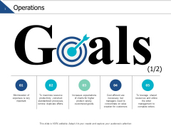 Operations Goals Target Ppt PowerPoint Presentation Layout