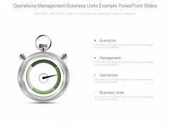 Operations Management Business Units Example Powerpoint Slides