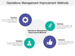 Operations Management Improvement Methods Ppt PowerPoint Presentation Styles Show Cpb