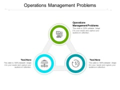Operations Management Problems Ppt PowerPoint Presentation Infographic Template Cpb
