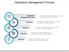 Operations Management Process Ppt PowerPoint Presentation Model Deck Cpb