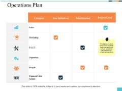 Operations Plan Ppt PowerPoint Presentation Inspiration Show