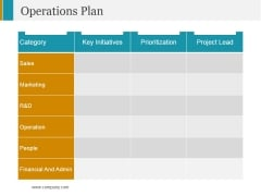Operations Plan Ppt PowerPoint Presentation Show Show
